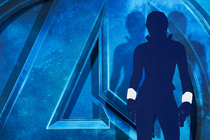 Black Widow Avengers Endgame Minimal