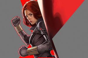 Black Widow Comic Art Wallpaper