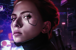 Black Widow Cyborg 4k Wallpaper