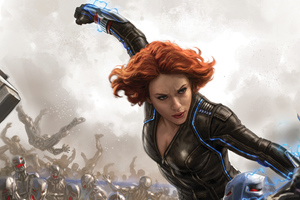 Black Widow Fan Art 4k Wallpaper