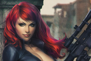 Black Widow Gun Wallpaper