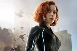 Black Widow In Avengers Age Of Ultron Wallpaper