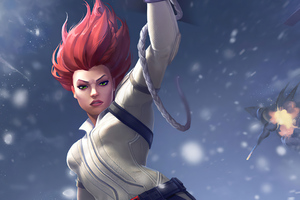 Black Widow Marvel Contest Of Champions 2020 Wallpaper