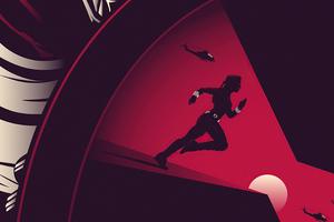 Black Widow Minimal Movie Poster 5k Wallpaper