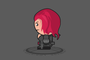 Black Widow Minimalist Art 4k Wallpaper
