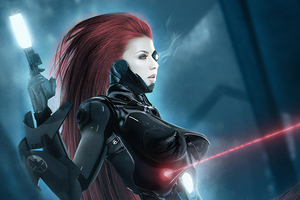 Black Widow New Art Wallpaper