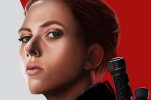 Black Widow Newartwork Wallpaper