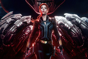 Black Widow Poster Design 4k Wallpaper