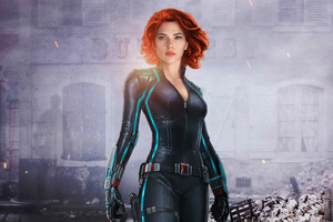 Black Widow Red Hair 4k Wallpaper