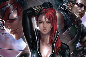 Black Widow Team Wallpaper