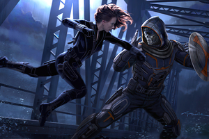Black Widow Vs Taskmaster 2020 Wallpaper