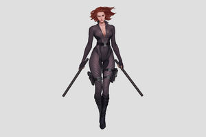 Black Widow Walking 4k Wallpaper
