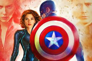 Black Widow X Captain America 5k