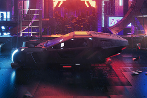 Blade Runner 2049 Scifi Car 4k