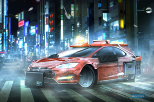 Blade Runner Deckards Sedan Tesla Model S