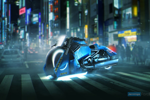 Blade Runner Spinner Bike Harley Davidson V Rod Muscle Wallpaper