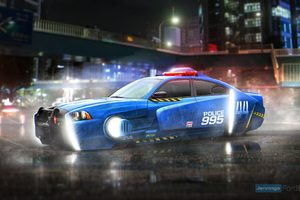 Blade Runner Spinner Dodge Charger Police Car