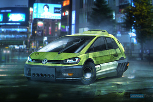 Blade Runner Volkswagen Golf Hatchback Wallpaper