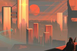 Bleeding Sunset Scifi