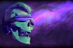 Blindfold Skull Art 4k
