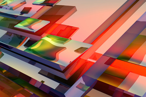 Blockpop Abstract 5k Wallpaper