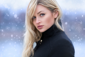 Blonde Blue Eyes Girl Wallpaper