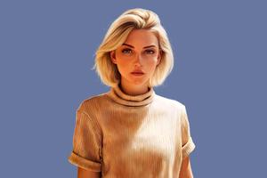 Blonde Girl 5k 2020 Wallpaper