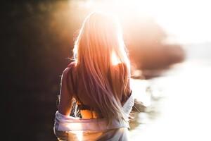 Blonde Girl In Morning