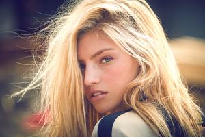 Blonde Hair Girl Outdoor