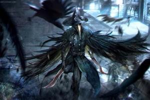 Bloodborne Crow Dagger Warrior Game Wallpaper