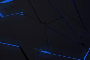 Blue Abstract Sharp Flows 4k