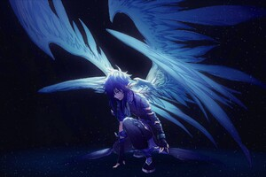 Blue Angel With Wings Anime