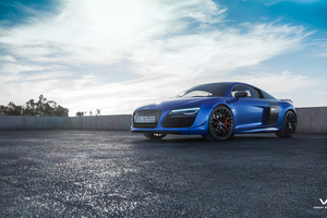 Blue Audi 4k