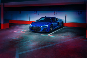 Blue Audi R8 2020 Wallpaper
