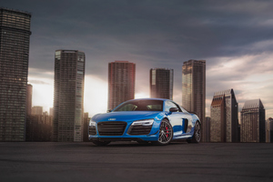 Blue Audi R8 4k Wallpaper