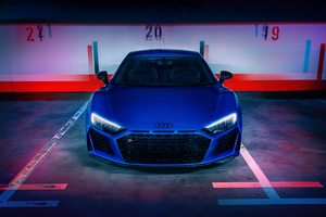 Blue Audi R8 Wallpaper