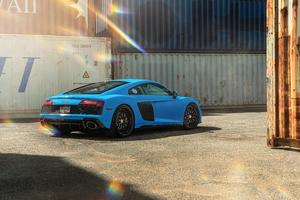 Blue Audi R8 8k Wallpaper