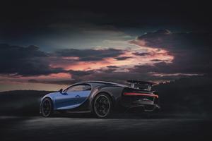 Blue Bugatti Chiron Sport 2020 4k