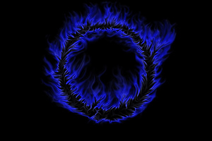 Blue Burning Flame Abstract 4k