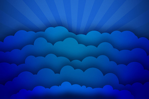 Blue Clouds Minimal Art 4k Wallpaper
