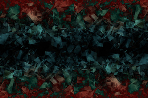 Blue Crystals Dark Green Red