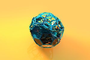 Blue Cube Scifi Abstract 4k Wallpaper