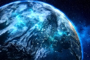 Blue Digital Planet