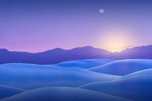 Blue Dunes Wallpaper