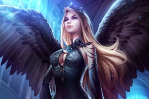 Blue Eye Angel Art Wallpaper