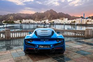 Blue Ferrari F8 Tributo 2018