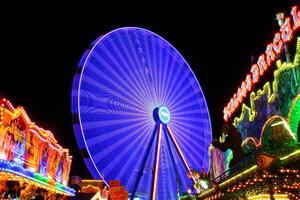 Blue Ferris Wheel 4k