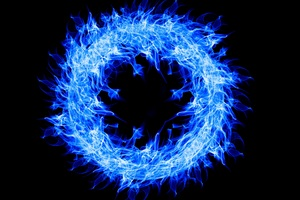 Blue Fire Ring 4k