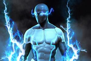 Blue Flash 2020 4k Wallpaper