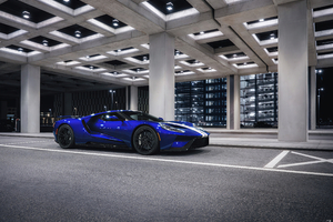 Blue Ford Gt Wallpaper